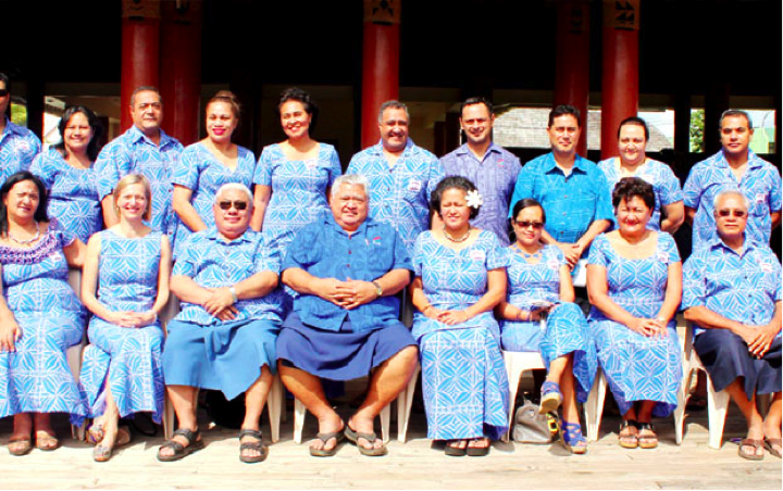 MEDIATORS: Samoa's accredited mediators are pictured with Prime Minister Tuilaepa Sa'ilele Malielegaoi and Chief Justice Patu Tiava'asu'e Sapolu.